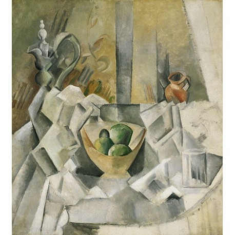 Carafe Jug and Fruit Bowl 1909 by Pablo Picasso oil painting art gallery