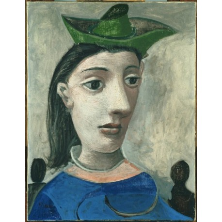 Donna con cappello verde by Pablo Picasso oil painting art gallery