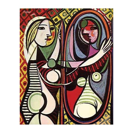 Girl Before a Mirror by Pablo Picasso oil painting art gallery