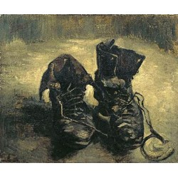 Boots with Laces by Vincent Van Gogh - Art gallery oil painting reproductions