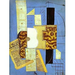 Guitar 1913 by Pablo Picasso oil painting art gallery