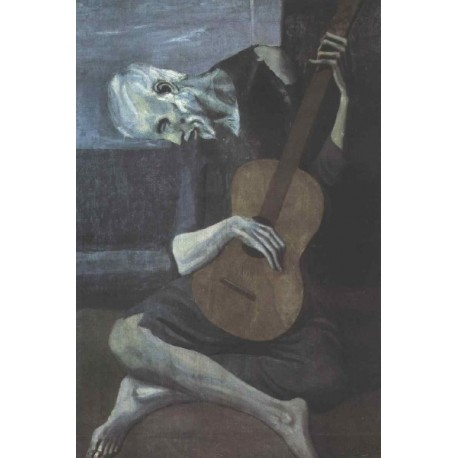 Guitarist by Pablo Picasso oil painting -art gallery