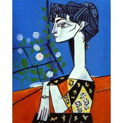 Jacqueline with Flowers by Pablo Picasso oil painting art gallery