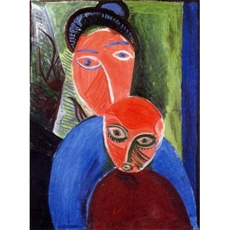 Mother and child 1907 by Pablo Picasso oil painting art gallery