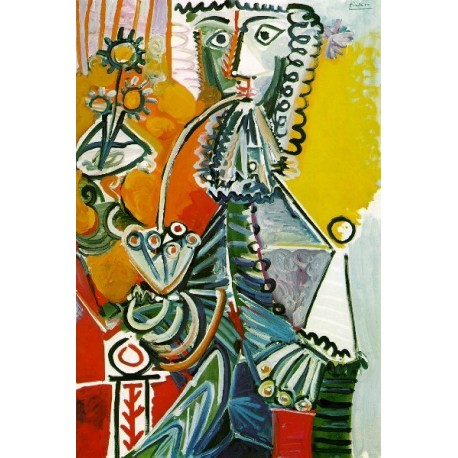 Musketeer with Pipe and Flower by Pablo Picasso oil painting art gallery