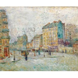 Boulevard de Clich by Vincent Van Gogh - Art gallery oil painting reproductions