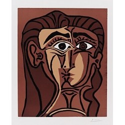 Portrait de Jacqueline de face by Pablo Picasso oil painting art gallery