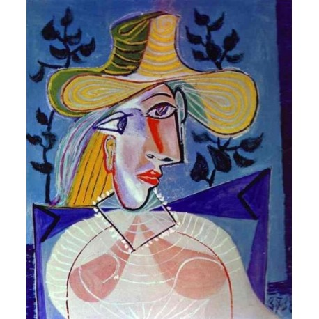 Portrait of a Young Girl by Pablo Picasso -oil painting art gallery