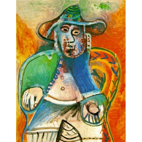 Seated Old Man 1970 by Pablo Picasso -oil painting art gallery