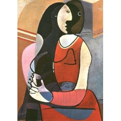 Seated Woman 1927 by Pablo Picasso oil painting art gallery