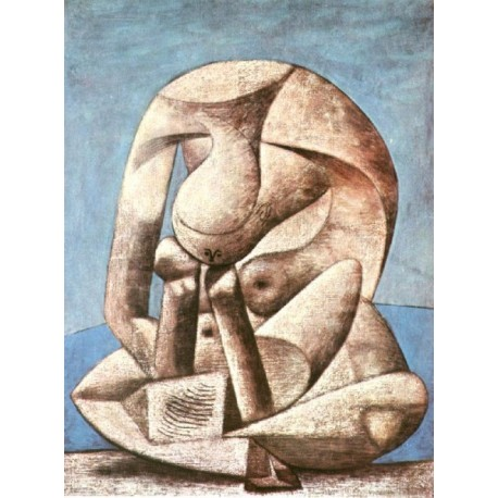 Seated Woman with a Book 1937 by Pablo Picasso oil painting art gallery