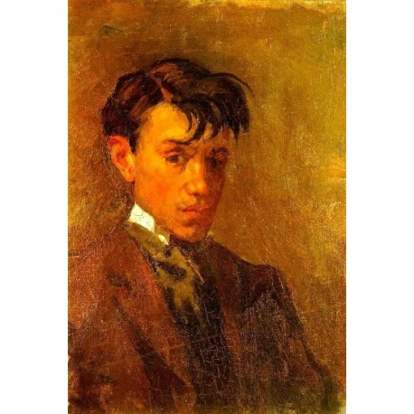 Self Portrait with Uncombed Hair by Pablo Picasso oil painting art gallery