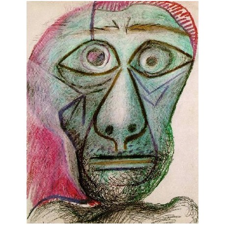 Self Portrait facing death by Pablo Picasso - oil painting art gallery