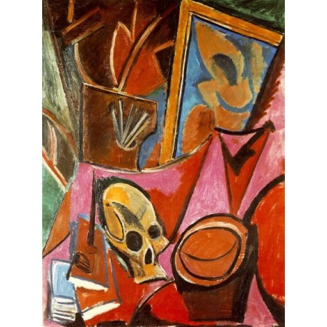 Still Life with Deaths Head by Pablo Picasso -oil painting art gallery
