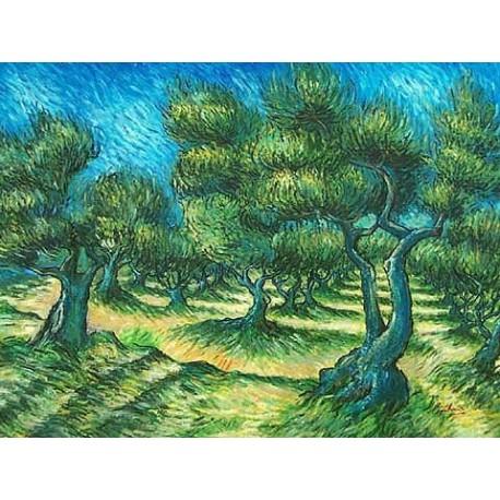 Champ d Olive 2 by Vincent Van Gogh