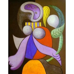 Woman with a Flower 1932 by Pablo Picasso -oil painting art gallery