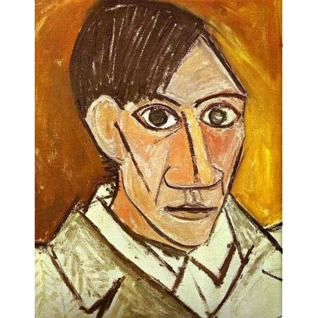 Self port 1907 by Pablo Picasso -oil painting art gallery