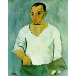 Self Portrait with Palette by Pablo Picasso oil painting art gallery