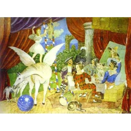 Sketch of Set for the Parade by Pablo Picasso oil painting art gallery