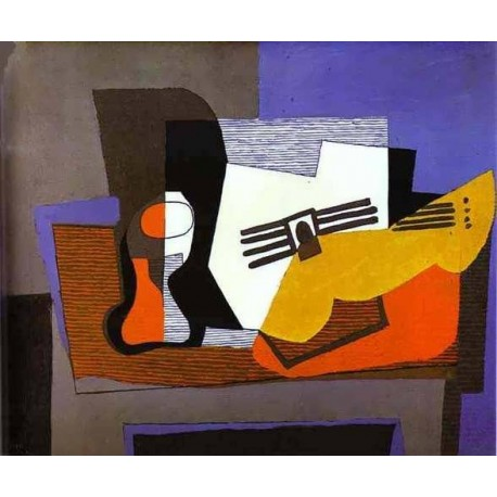 Still Life with Guitar by Pablo Picasso oil painting art gallery