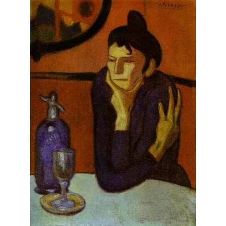 The Absin the Drinker by Pablo Picasso oil painting art gallery