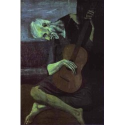 The Old Guitarist by Pablo Picasso oil painting art gallery