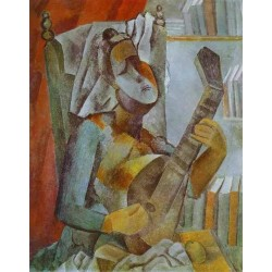 Woman Playing the Mandoline by Pablo Picasso oil painting art gallery