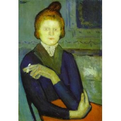 Woman with a Cigarette by Pablo Picasso oil painting art gallery