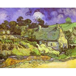 Cottages with Thatchhed by Vincent Van Gogh - Art gallery oil painting reproductions