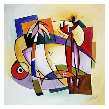 Abstract Ab10377 oil painting art gallery