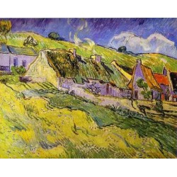 Cottages by Vincent Van Gogh - Art gallery oil painting reproductions