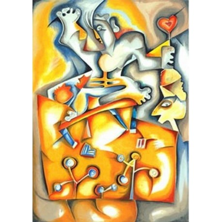Abstract Ab20113 oil painting art gallery