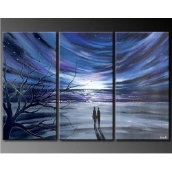 A Quiet Walk | Oil Painting Abstract art Gallery