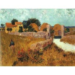 Farmhouse in Provence by Vincent Van Gogh - Art gallery oil painting reproductions