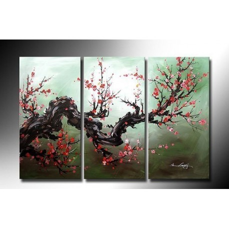 Red Budding 2 | Oil Painting Abstract art Gallery
