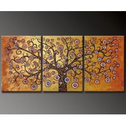 Gold Tree | Oil Painting Abstract art Gallery