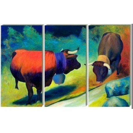 Bulls | Oil Painting Abstract art Gallery