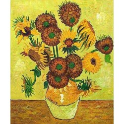 Fourteen Sunflowers in a Vase by Vincent Van Gogh - Art gallery oil painting reproductions
