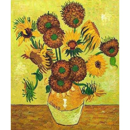 Fourteen Sunflowers in a Vase by Vincent Van Gogh