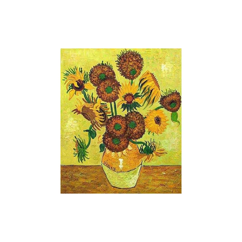 Vincent van gogh gt fourteen sunflowers in a vase by vincent van gogh