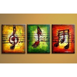Musical Notes 2 - Oil Painting Abstract art Gallery
