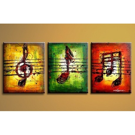 Musical notes 2 abstract oil painting on sale for Canvas art on sale
