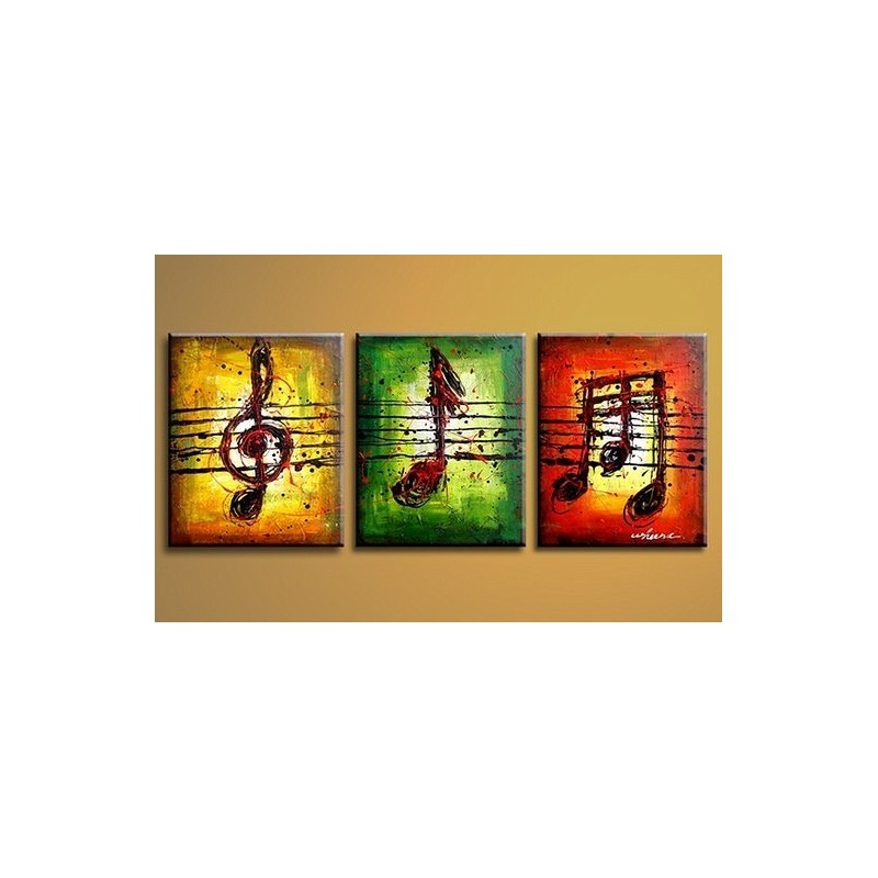 Musical Notes 2 Abstract Oil Painting On Sale