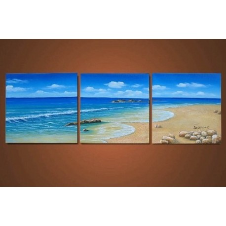 Calm Ocean Abstract Oil Painting On Sale