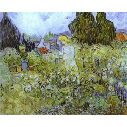 Gachet in her Garden at Auvers Sur Oise by Vincent Van Gogh - Art gallery oil painting reproductions