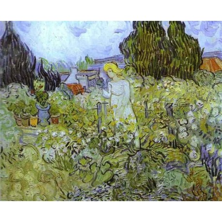 Gachet in her Garden at Auvers Sur Oise by Vincent Van Gogh
