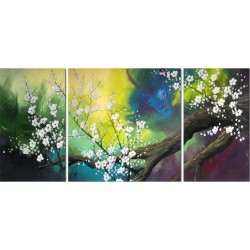 White Budding 2 | Oil Painting Abstract art Gallery
