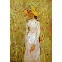 Girl in White by Vincent Van Gogh - Art gallery oil painting reproductions