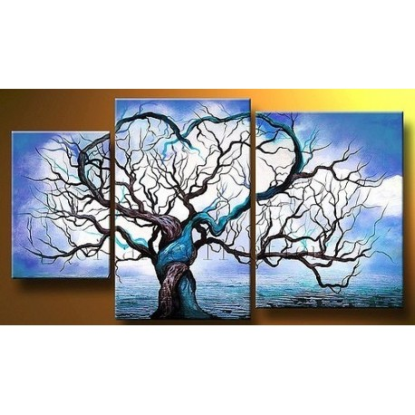 Blue Tree | Oil Painting Abstract art Gallery