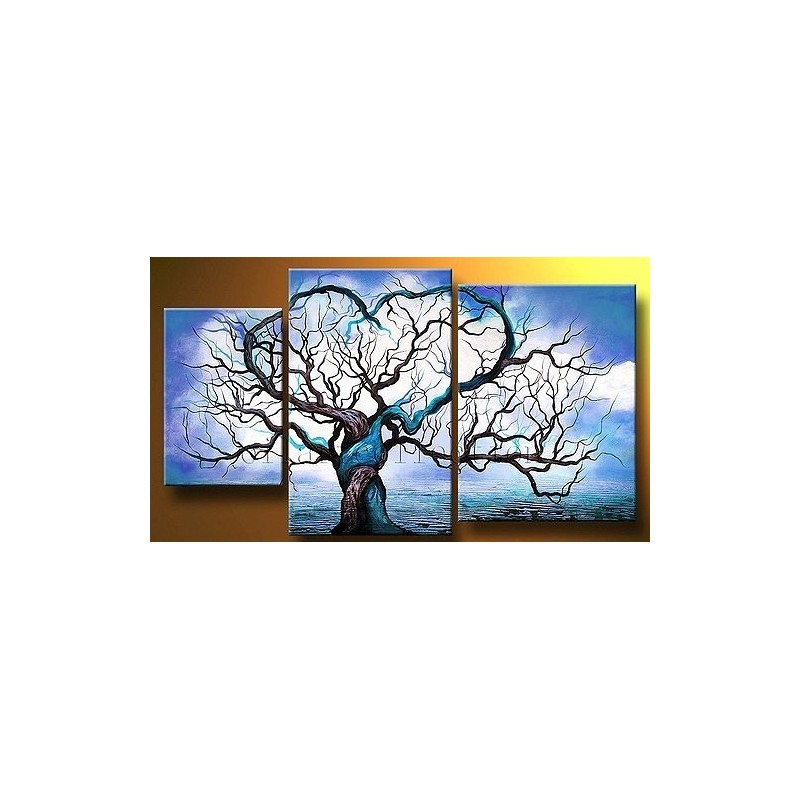 Blue Tree Abstract Oil Painting On Sale